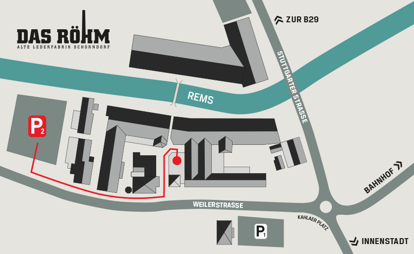 Röhm Anfahrt Lageplan